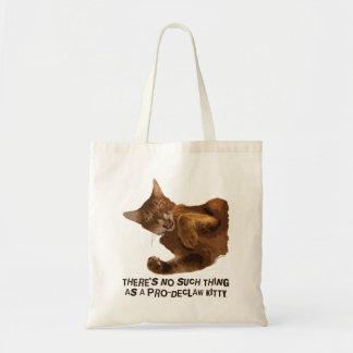 子猫の予算のトートバックの爪を除かないで下さい トートバッグ