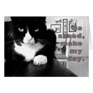 子猫の態度-、作ります私の日カードを先に行って下さい カード
