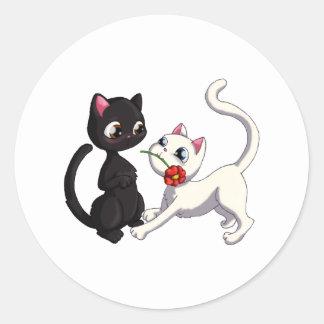 子猫の花 ラウンドシール
