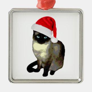 子猫の足、シャム猫のクリスマスのオーナメント メタルオーナメント