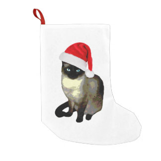 子猫の足、シャム猫のクリスマスのストッキング スモールクリスマスストッキング