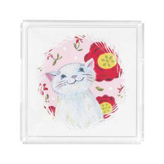 子猫の香水の皿 アクリルトレー