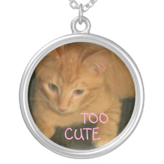"""子猫の""""余りにかわいい""""ネックレス シルバープレートネックレス"""