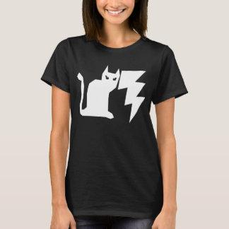 子猫のLectroのゴシック様式稲妻猫 Tシャツ