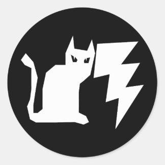 子猫のLectroの稲妻 ラウンドシール