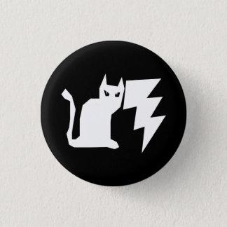 子猫のLectroの稲妻 3.2cm 丸型バッジ