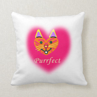 子猫のPurrfect Mojoの装飾用クッション クッション