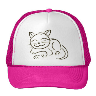 子猫ラインスケッチ ハット