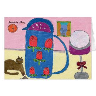 子猫及びバラカード カード
