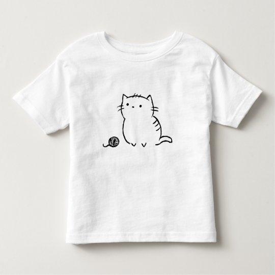 子猫及びヤーン トドラーTシャツ