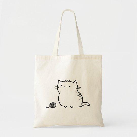 子猫及びヤーン トートバッグ