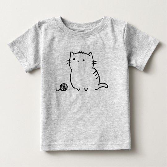 子猫及びヤーン ベビーTシャツ