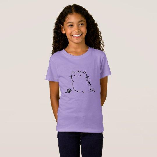 子猫及びヤーン Tシャツ