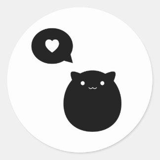 子猫愛 ラウンドシール