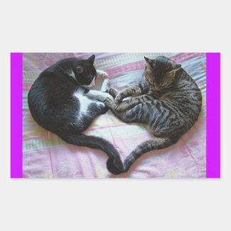 子猫愛 長方形シール