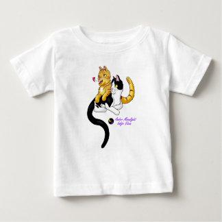 子猫愛wロゴ ベビーTシャツ
