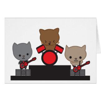 子猫猫のかわいいバンドカード カード