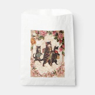 子猫猫のかわいらしいヴィンテージ フェイバーバッグ
