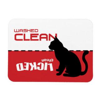 子猫猫のディッシュウォッシャーの磁石-舐められたきれい マグネット