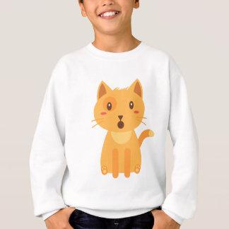 子猫猫の表現の顔のワイシャツ スウェットシャツ