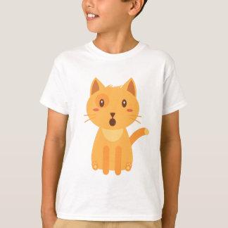 子猫猫の表現の顔のワイシャツ Tシャツ