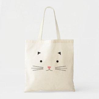 子猫猫の顔のバッグ トートバッグ