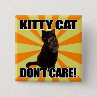 子猫猫は気になりません 5.1CM 正方形バッジ