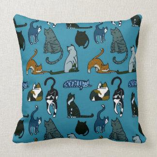 子猫角猫パターン装飾用クッション クッション
