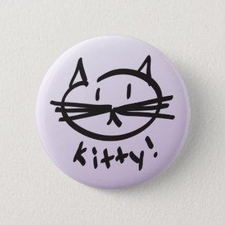 子猫! ボタン 5.7CM 丸型バッジ