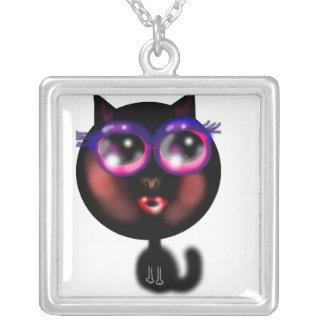 子猫Katのチャームのネックレス シルバープレートネックレス