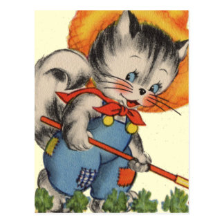 子猫Katの庭師 ポストカード