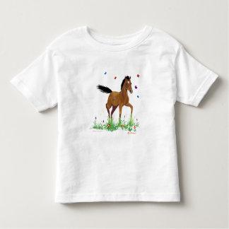 子馬および蝶幼児のTシャツ トドラーTシャツ