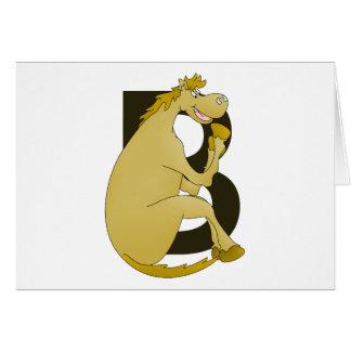 子馬のモノグラムの手紙B カード