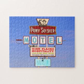 子馬の兵士のモーテルの印、ルート66、Tucumcari、N.M. ジグソーパズル