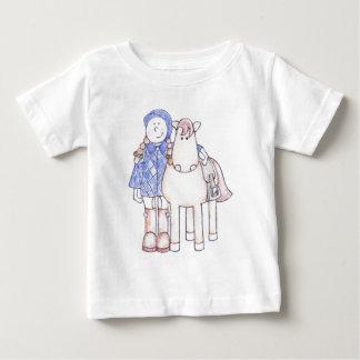 子馬の女の子 ベビーTシャツ