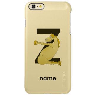 子馬Zの名前入りなモノグラム INCIPIO FEATHER SHINE iPhone 6 PLUSケース