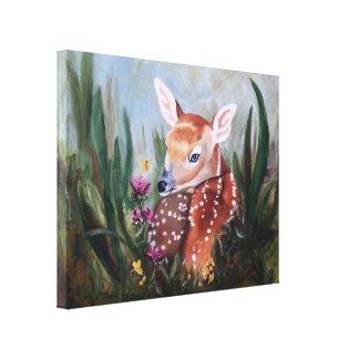 子鹿の潔白のキャンバスプリントのプリント キャンバスプリント