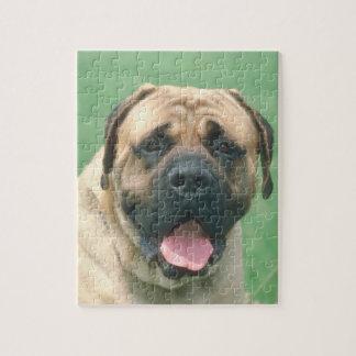 子鹿のBullmastiff犬のパズル ジグソーパズル