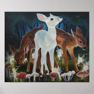 子鹿のFaeryのリング、「Faery門脈の」のキャンバスのプリント ポスター