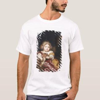子鹿を愛撫している女の子 Tシャツ