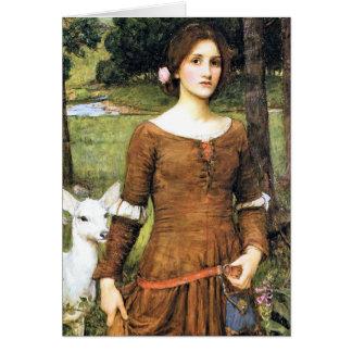 子鹿を持つドクレア女性 カード