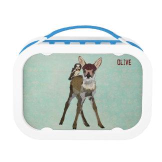 子鹿及びフクロウのお弁当箱 ランチボックス
