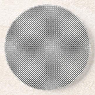 孔パターンが付いている銀製の金属 コースター