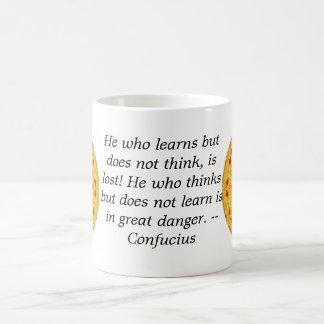 孔子の引用文-身につけられる知恵 コーヒーマグカップ