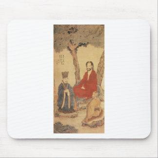 孔子、ラオス語tzuおよび仏教のArhat マウスパッド