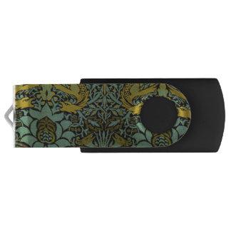 孔雀およびドラゴンのウィリアム・モリスのタペストリーのデザイン USBフラッシュドライブ