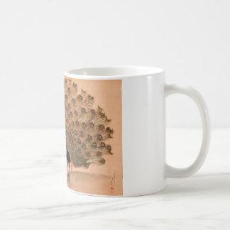 孔雀およびPeahenの絵画 コーヒーマグカップ