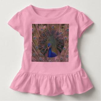 孔雀のひだの鳥のティー トドラーTシャツ