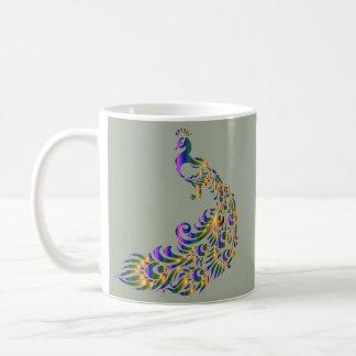 孔雀のクラシックな11ozマグ コーヒーマグカップ