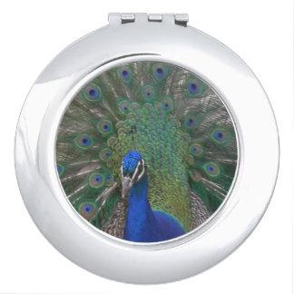 孔雀のコンパクトの鏡